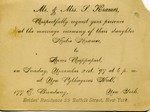 Louis and Kate's wedding invitation ( '97 ... as in 1897 )