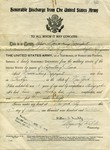 Discharged from the Army Dec., 1918