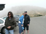 it's foggy at the Pt. Reyes Lighthouse!