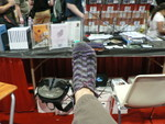 I got a lot of sock work done waiting in lines