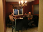 less formal of two dining rooms