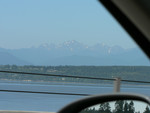 Olympics from the Hood Canal Bridge - we're coming!
